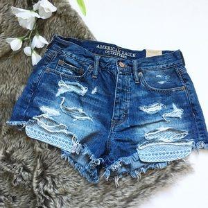 American Eagle Vintage Hi Rise Jean Shorts